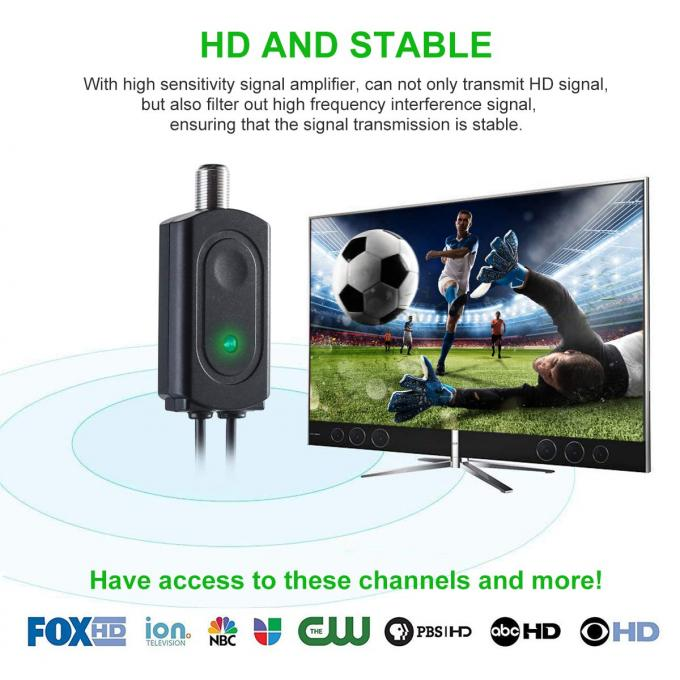 Powerful Indoor Digital Television Antennas Amplified HD Digital Support 4K 1080p