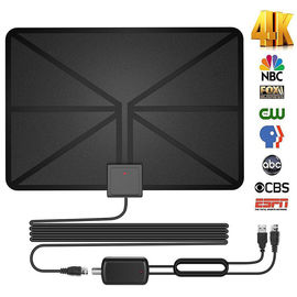 China Amplified HDTV Digital Television Antennas 60 Mile Range 4K 1080p Paper Thin factory